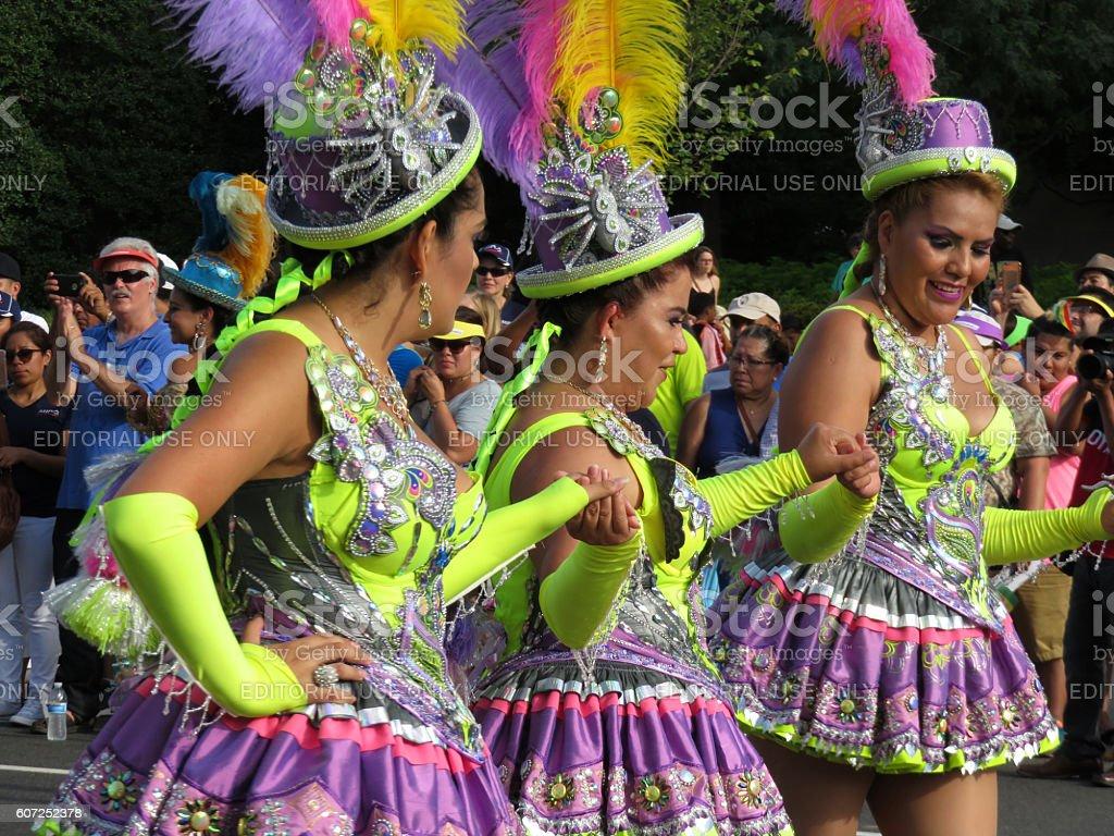Bolivia Dancers at the Festival stock photo