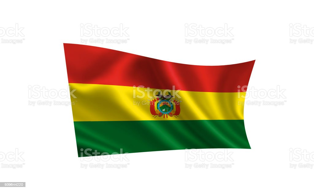 Bolivia flag. A series of 'Flags of the world.' (The country - Bolivia flag) stock photo