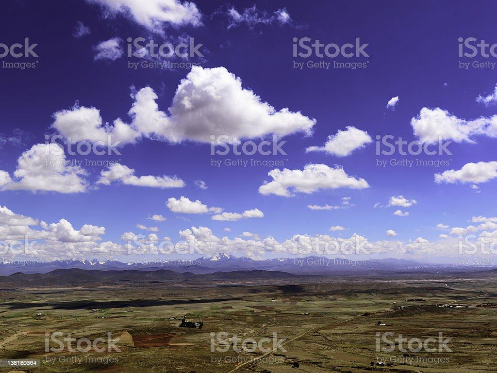 Bolivia landscape outside La Paz royalty-free stock photo