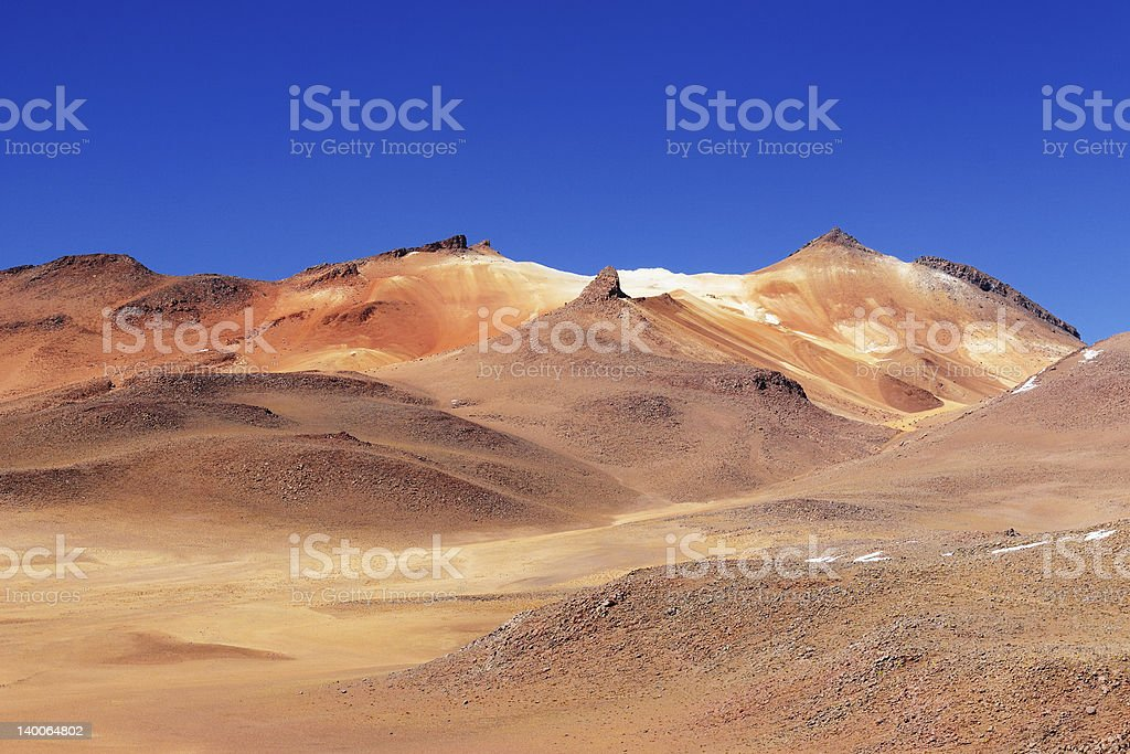 Bolivia, the most beautifull Andes in South America stock photo
