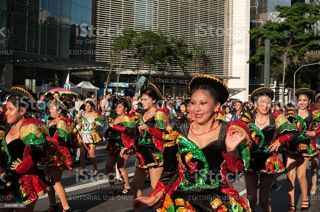 Bolivian Dancers stock photo