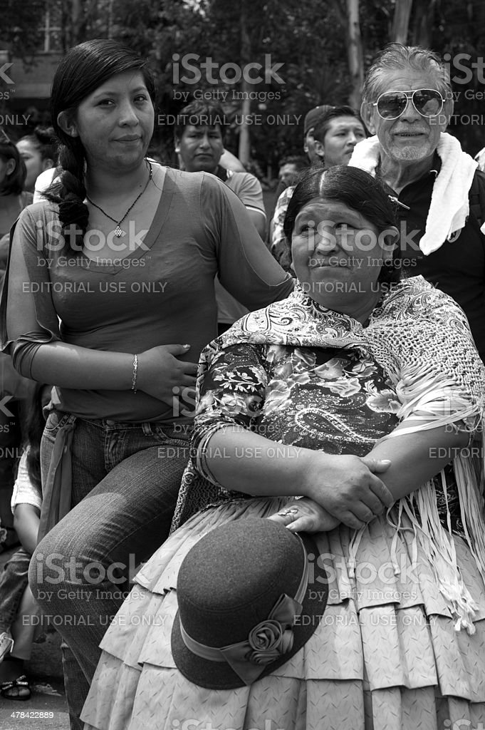 Bolivian family royalty-free stock photo