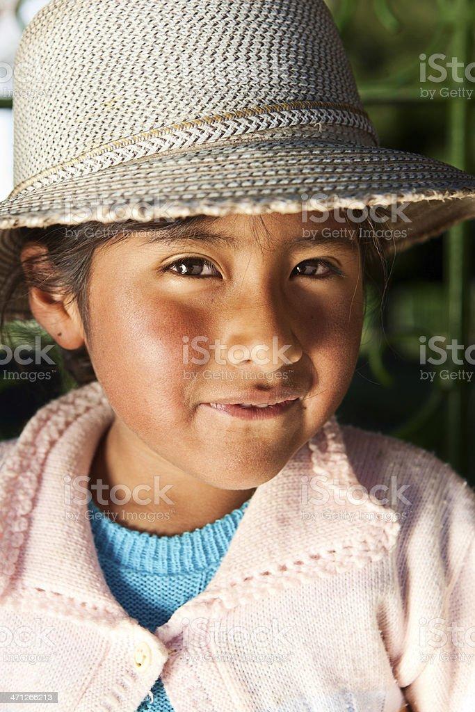 Boliviano no national roupas, Copacabana, Bolívia - foto de acervo