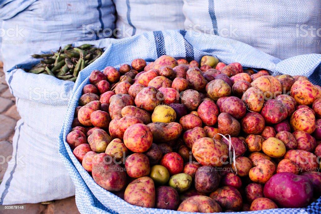 Bolivian Potatos stock photo