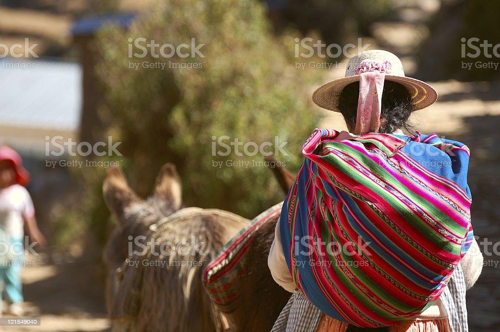 Bolivian woman stock photo