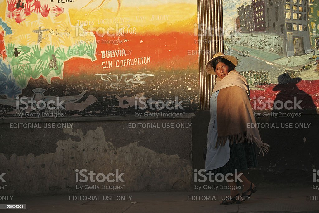 Boliviano mulher. - foto de acervo