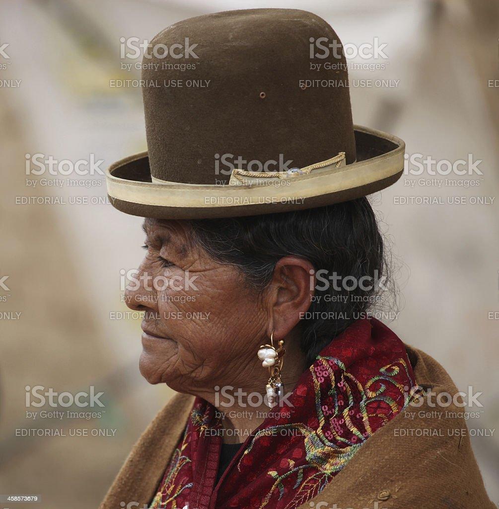 Boliviano mulher Retrato - foto de acervo