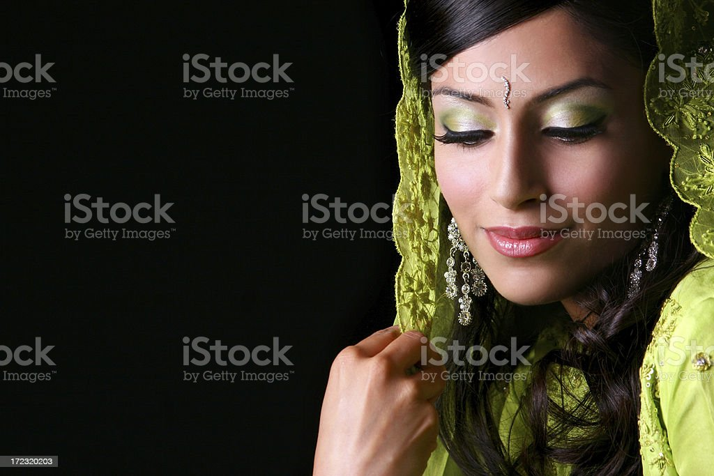 Bollywood Bride - Poonam stock photo