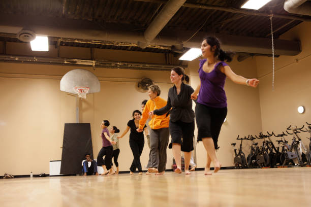 bollywood dance group - dance group stock photos and pictures