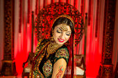 istock Bollywood Princess Red Indian 465581249