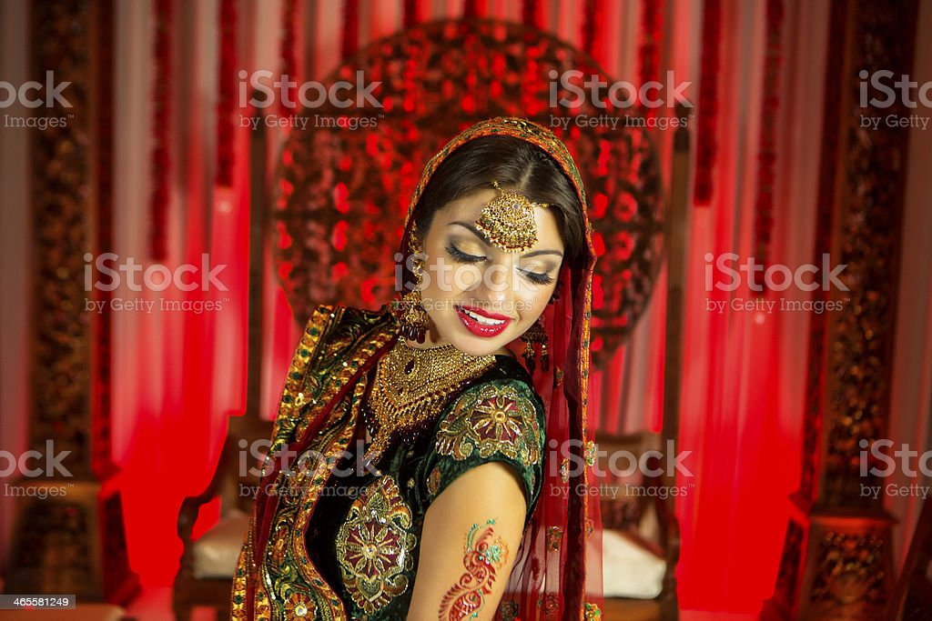 Bollywood Princess Red Indian stock photo
