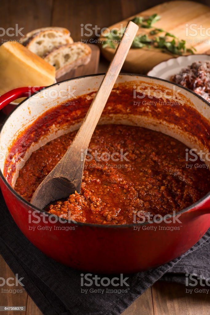 Boloagnese Sauce stock photo
