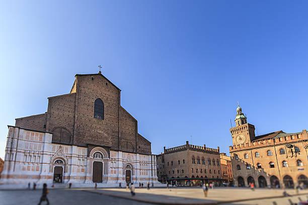 bologna, basilica di san petronio - emilia romagna, italy - bolonia zdjęcia i obrazy z banku zdjęć