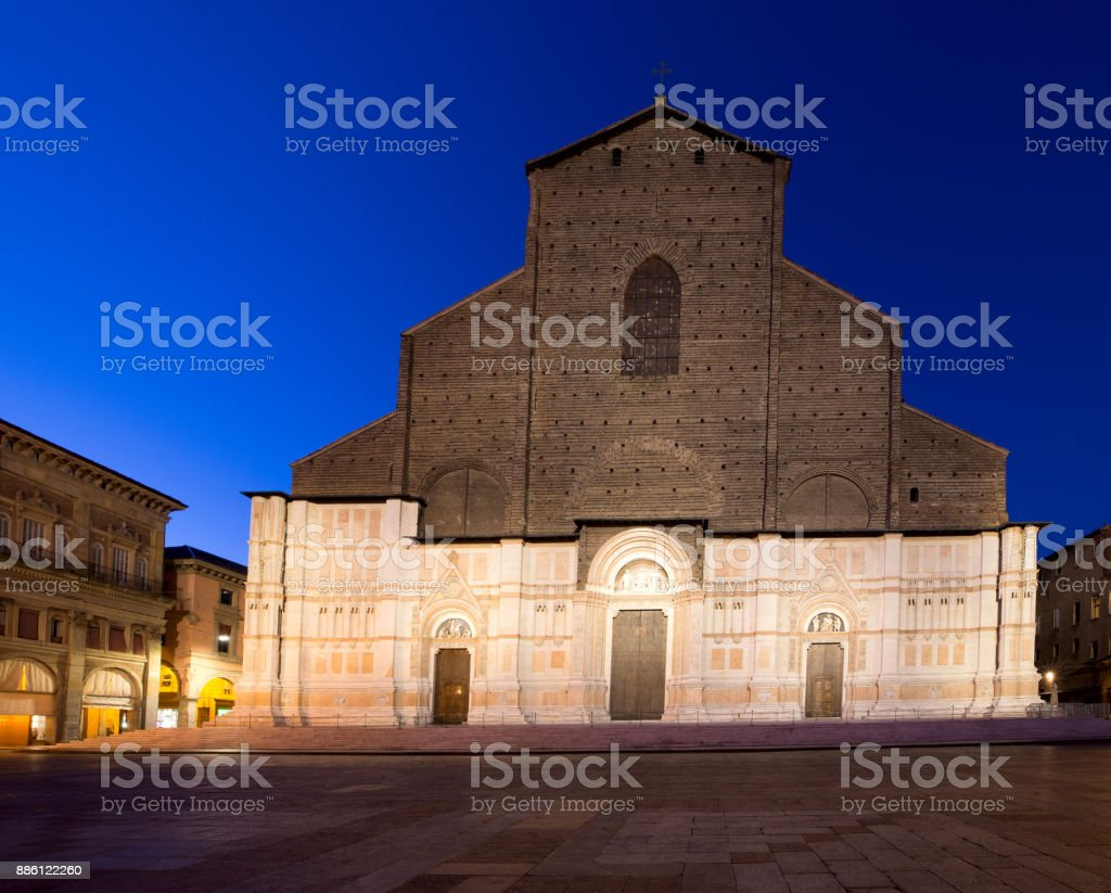 Bologna. Basilica di San Petronio. stock photo