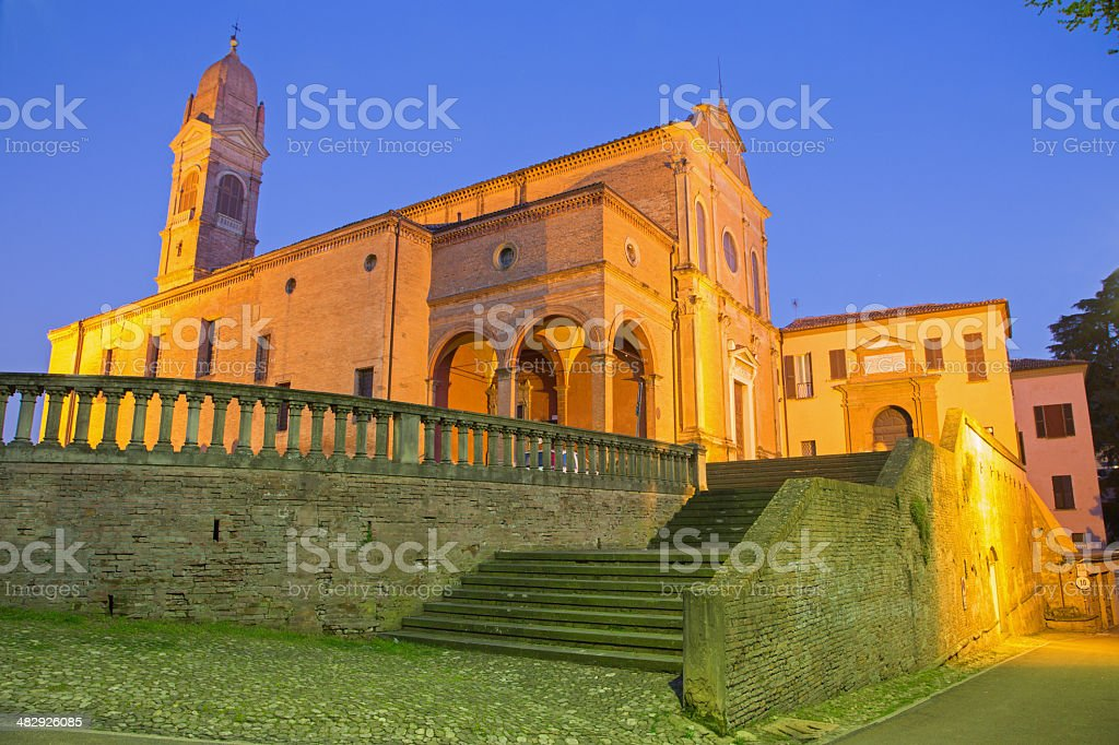 Bologna - Church San Michele in Bosco stock photo