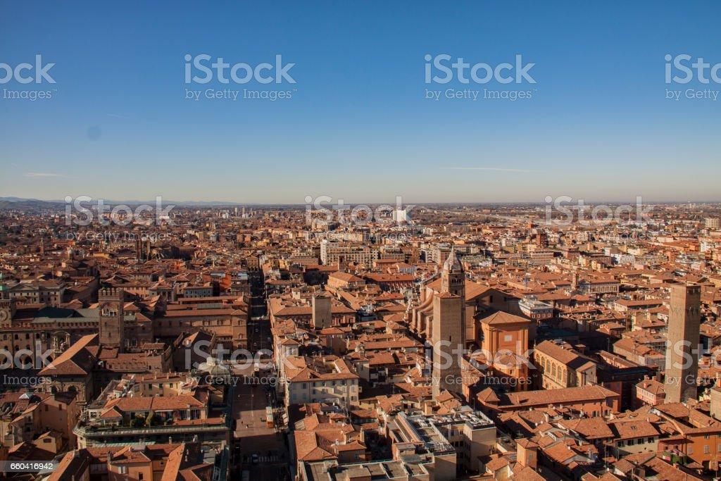 Bologna cityscape view, Italy стоковое фото