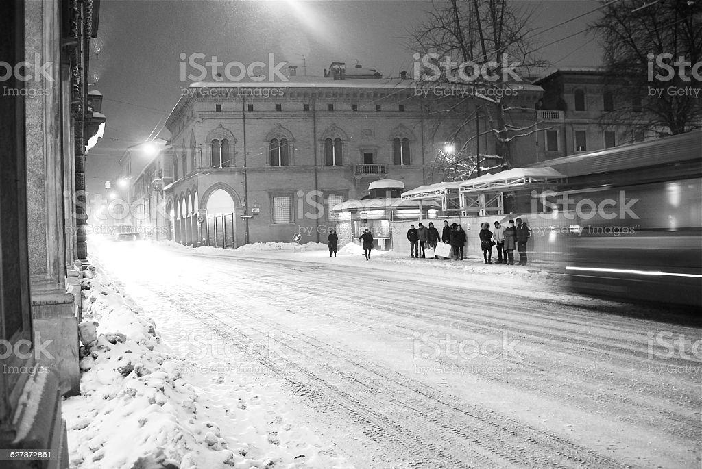 Bologna in bianco - foto stock