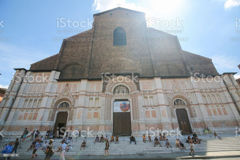 Bologna, Italy - Basilica of San Petronio stock photo