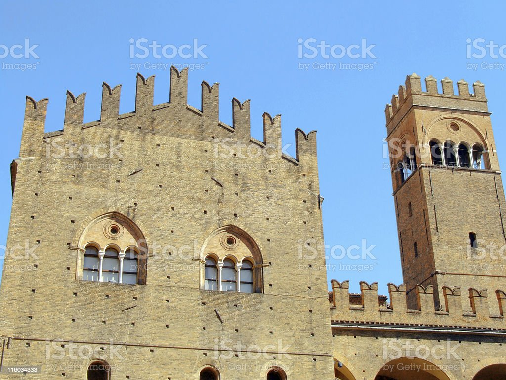 Bologna, king Enzo palace royalty-free stock photo