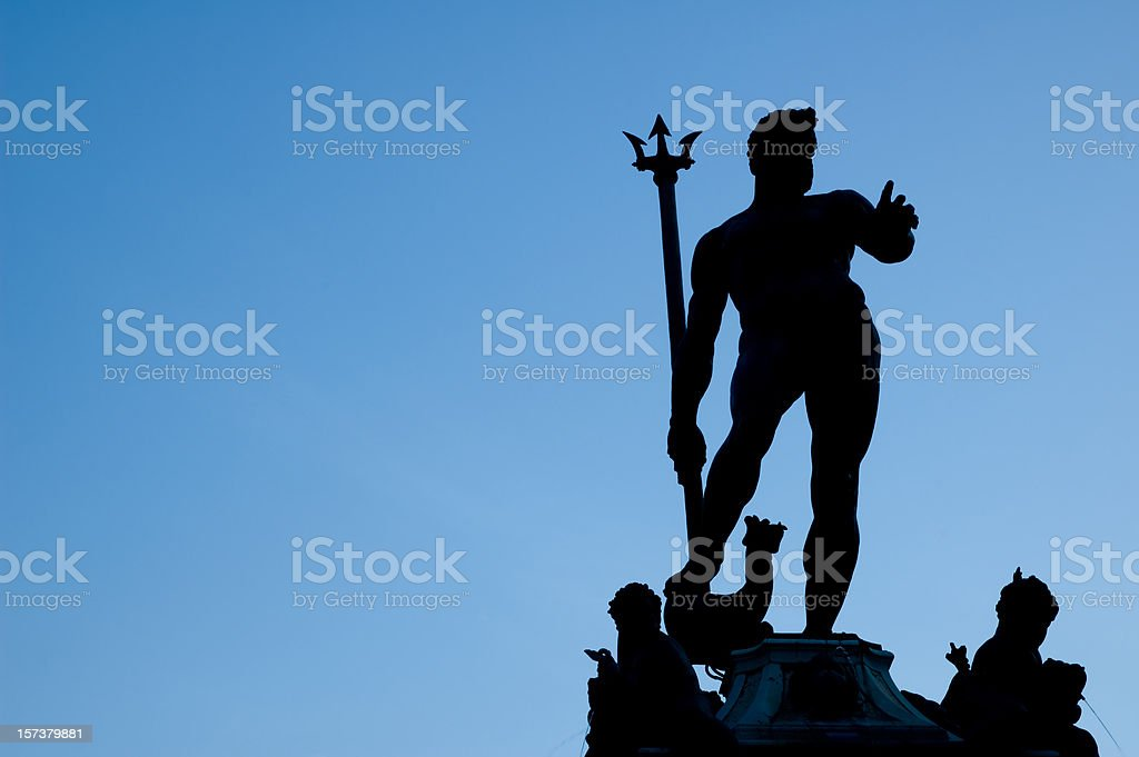 Bologna: Neptune with his trident stock photo