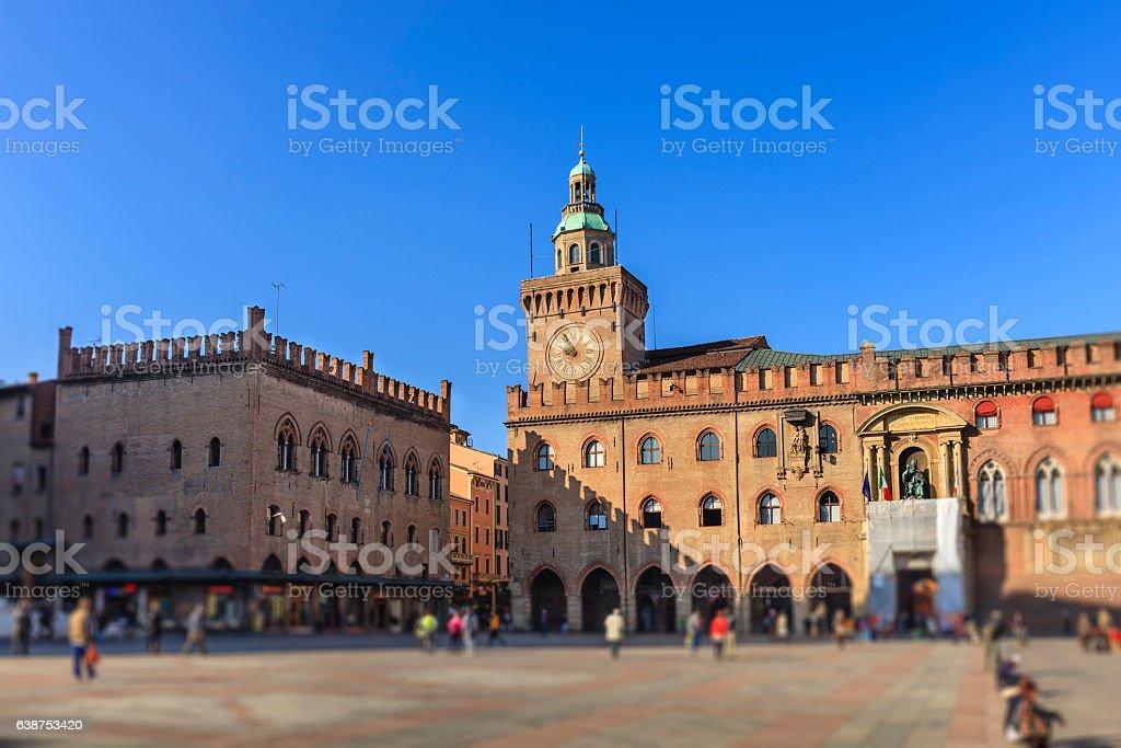 Bologna, Piazza Maggiore - Emilia Romagna, Italy – Foto