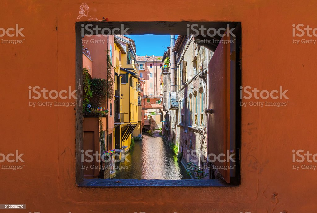 Bologna (Italy) - The historic center of the city The city of the porches and the capital of Emilia-Romagna region, northern Italy Ancient Stock Photo