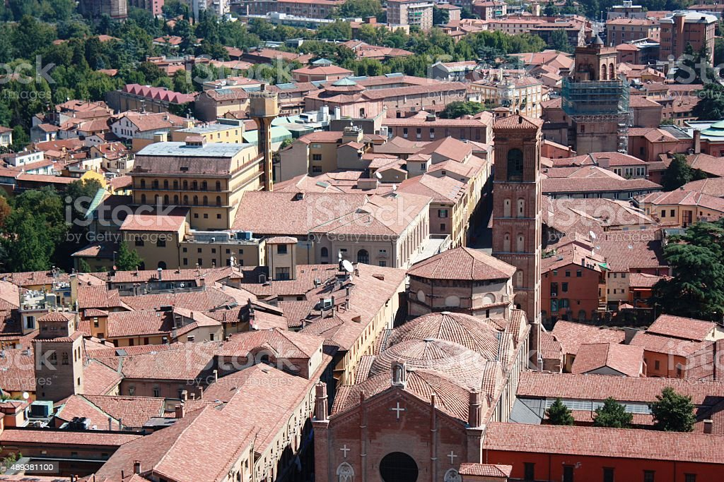 Bologna View From Asinelli Tower To San Giacomo Maggiore Italy Stock Photo  & More Pictures of 2015