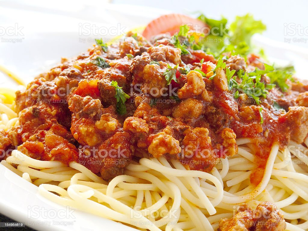 Bolognese ragu stock photo