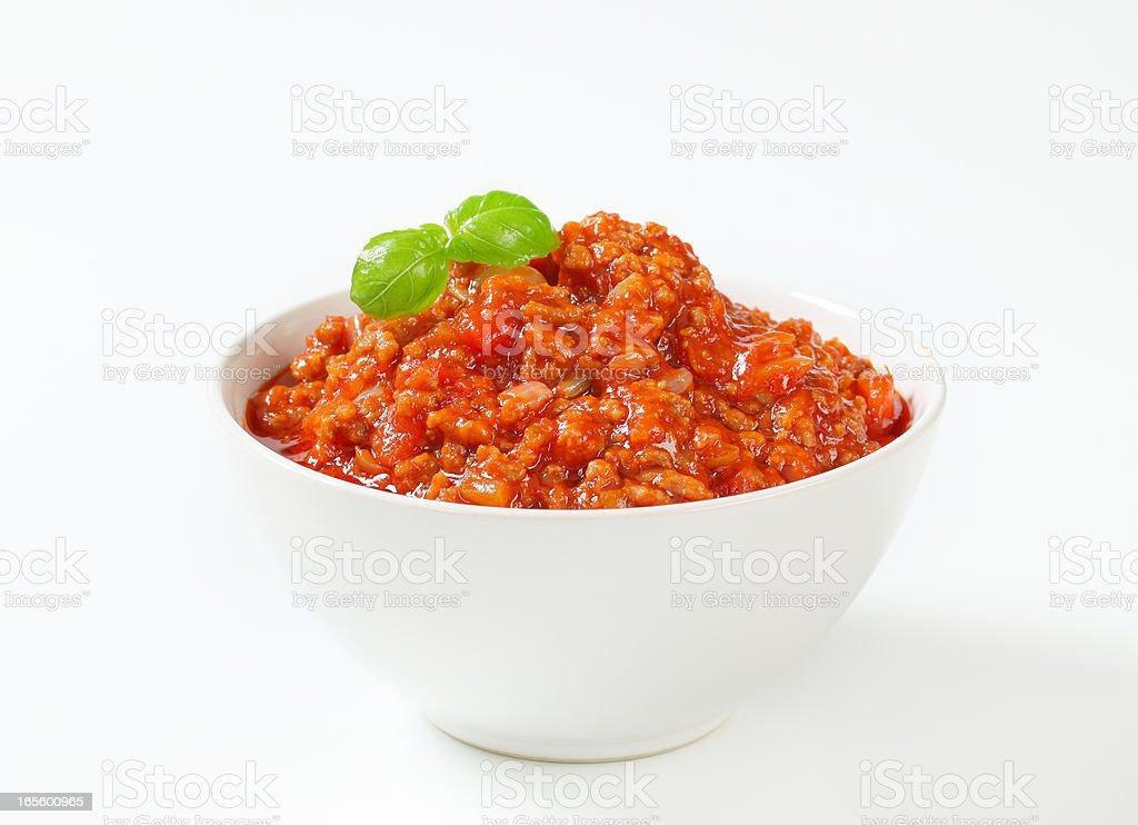 bolognese sauce stock photo
