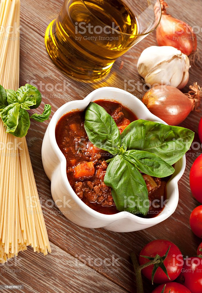Bolognese sauce royalty-free stock photo