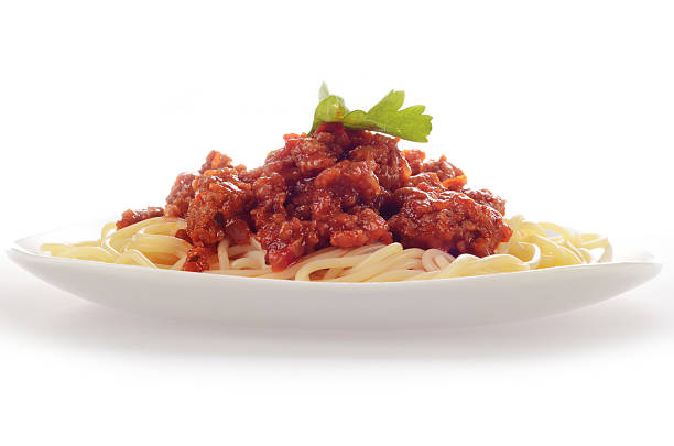 Spaghetti bolognese Plate of spaghetti bolognese. bolognese sauce stock pictures, royalty-free photos & images