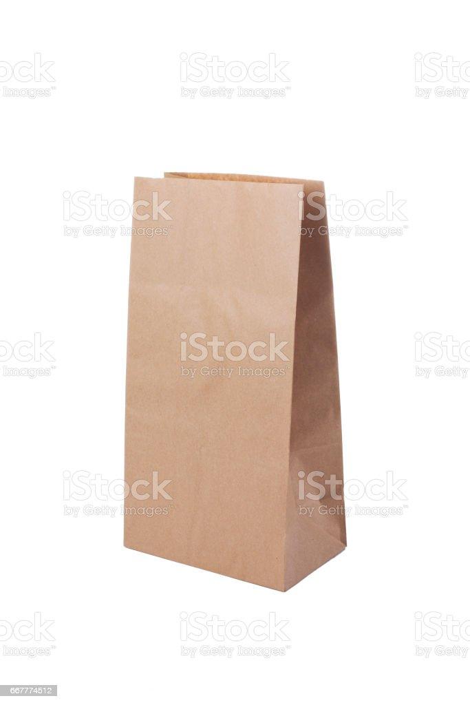 Bolsa de papel kraft stock photo