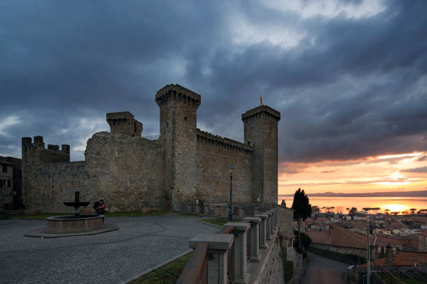 Bolsena castle stock photo