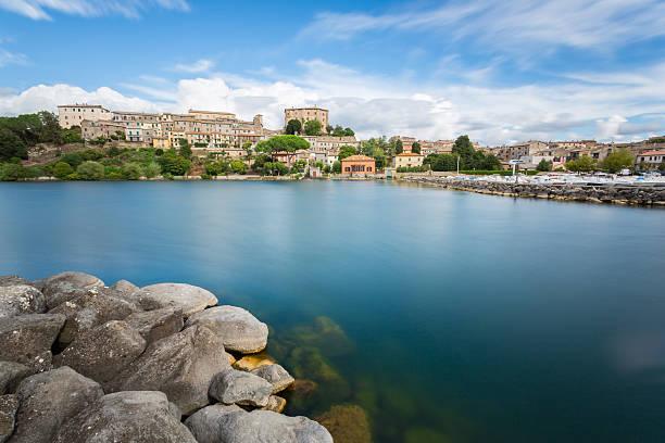 Bolsena lake - View from Capodimonte - foto stock