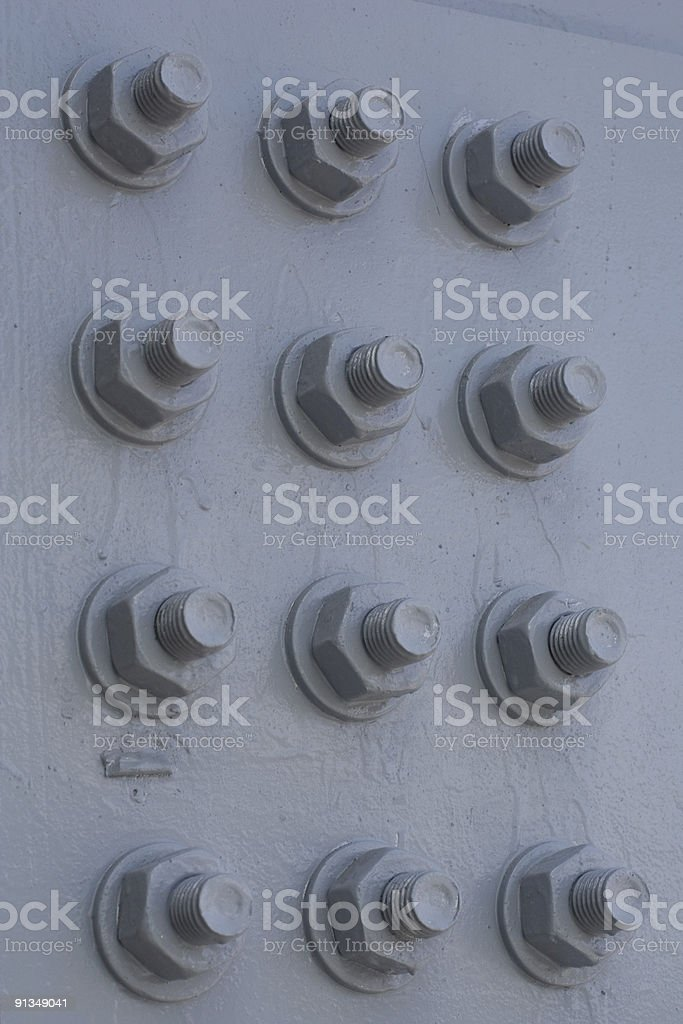 Bolt a nut Industrial background royalty-free stock photo