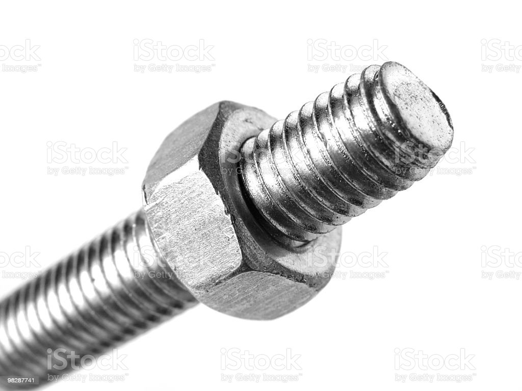 bolt and nut royalty-free stock photo