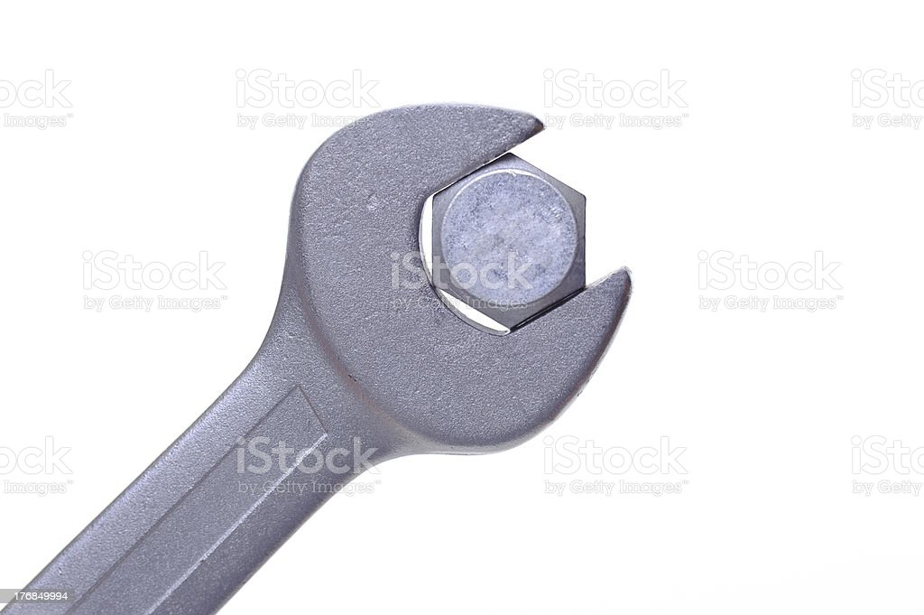 Bolt and Wrench royalty-free stock photo