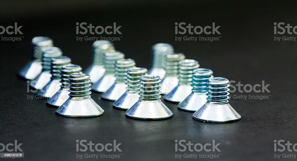 Bolt Hex Socket Flat Head Screw Stainless Steel foto royalty-free