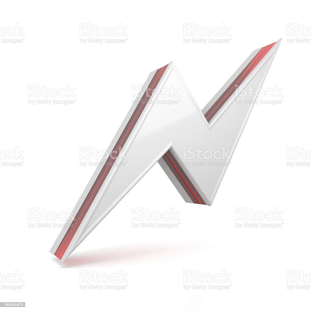 bolt icon symbol stock photo