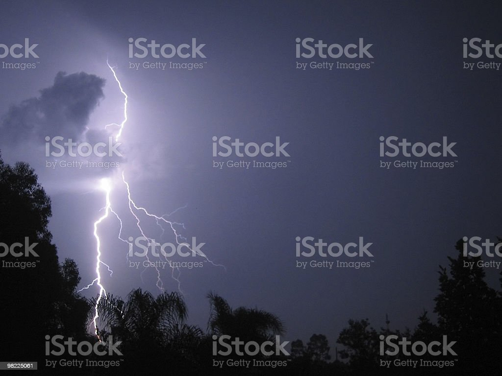 Bolt of Lightning From Nowhere! royalty-free stock photo