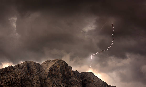 bolt of lightning stock photo