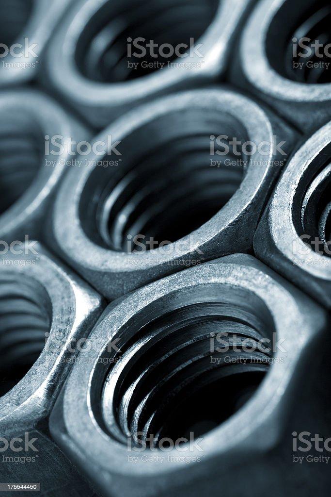 Bolt Threads Close-Up stock photo