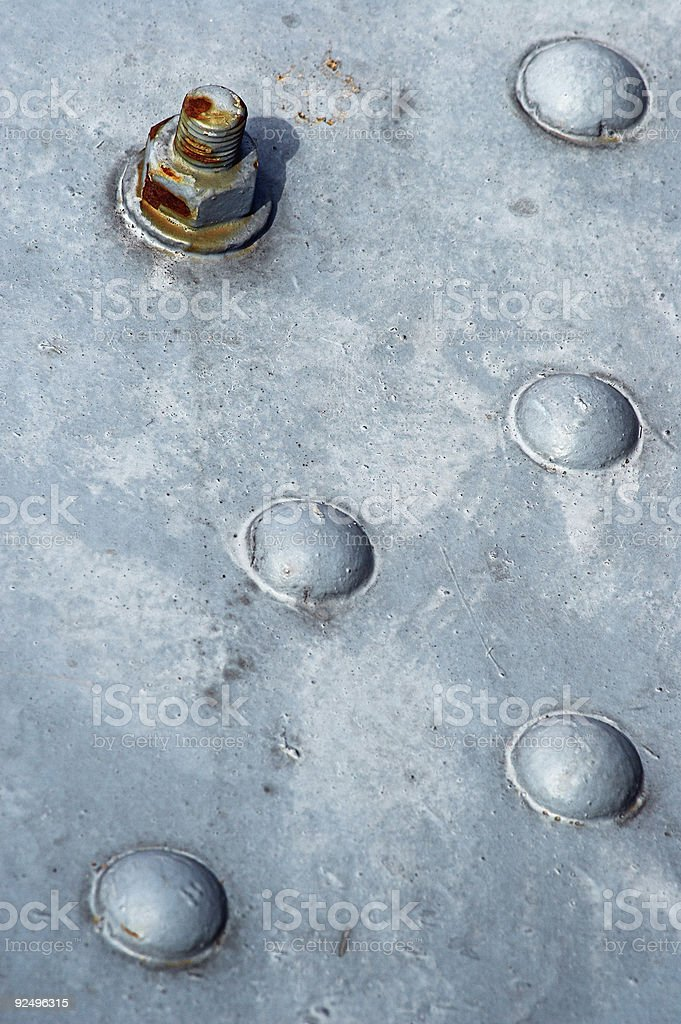 Bolt with character royalty-free stock photo
