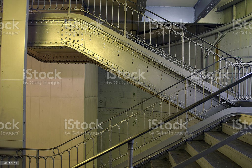 bolted stairs royalty-free stock photo