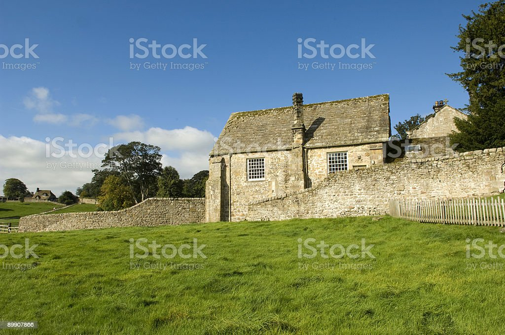 Bolton Abbey in the summer royalty-free stock photo