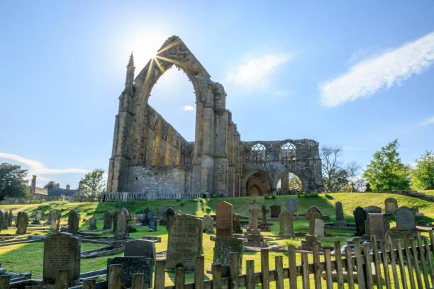 Bolton Abbey, North Yorkshire, UK stock photo