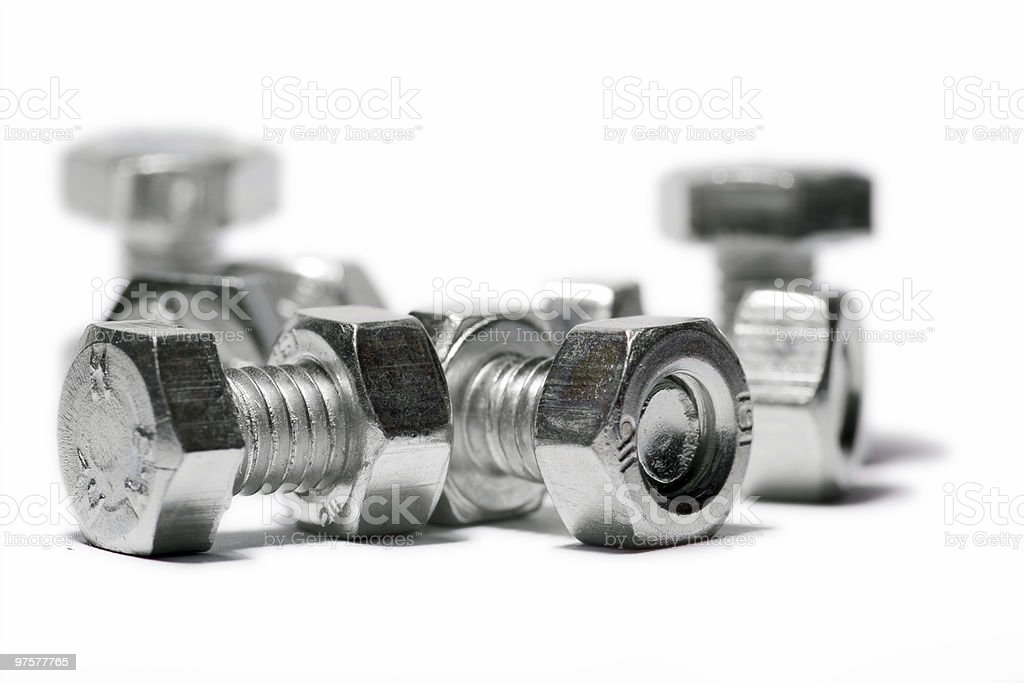 bolts and nuts royalty-free stock photo