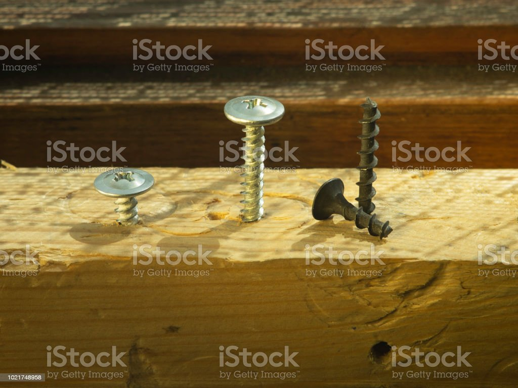 Swell Bolts And Screws On A Wooden Work Bench Concept Of Diy And Squirreltailoven Fun Painted Chair Ideas Images Squirreltailovenorg