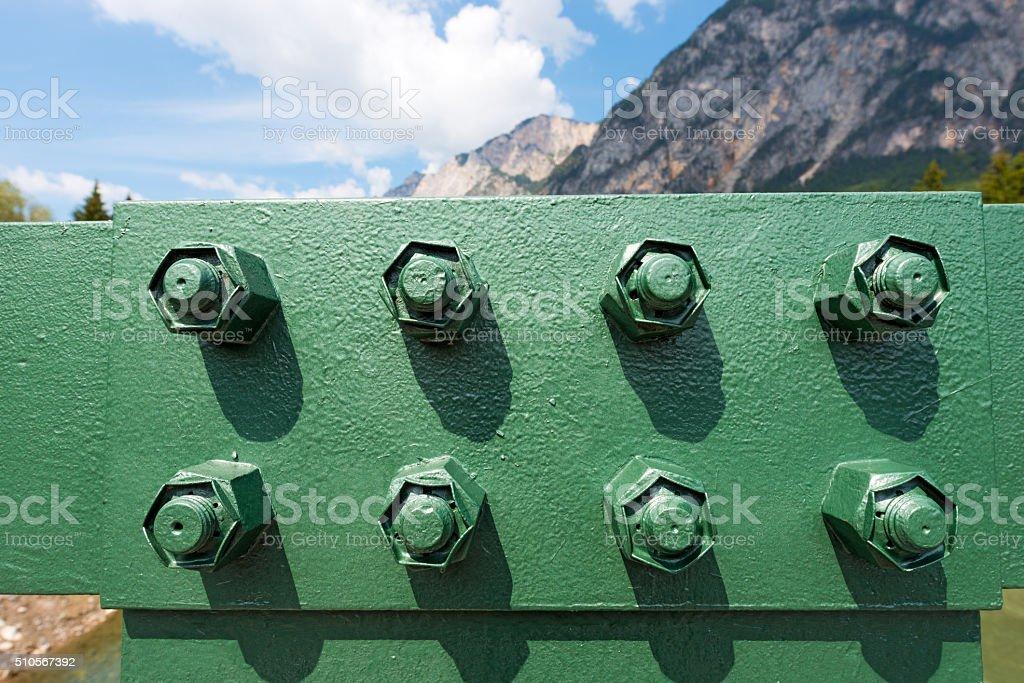 Bolts of a Bridge stock photo