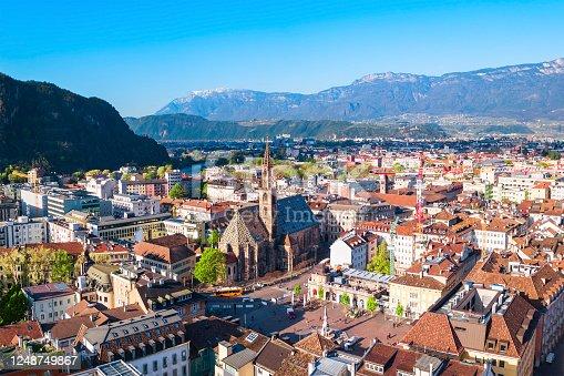 istock Bolzano aerial panoramic view, Italy 1248749867